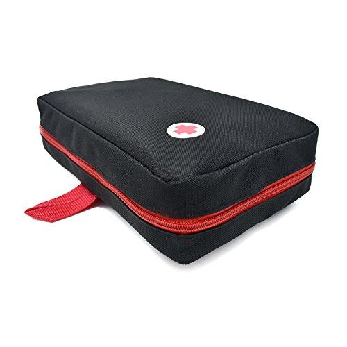 41MtZDljFGL - Botiquín primeros auxilios SUPER ROL con 120 artículos indispensables para realizar curas de emergencia (NEGRO)
