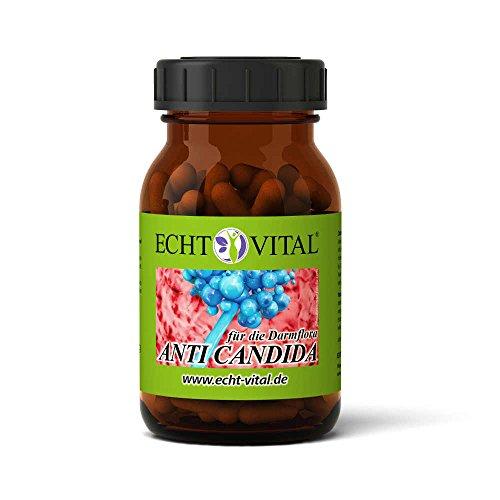 Hefe-infektion Symptome (ECHT VITAL ANTI CANDIDA - 1 Glas mit 90 Kapseln - enthält hochwertige Pflanzenextrakte - kann gegen den Hefepilz Candida albicans vorbeugen - zur Entgiftung)