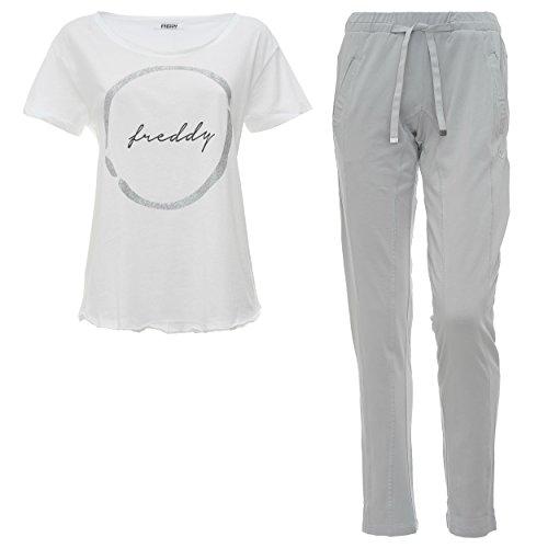 Fred Perry Safets, Ensemble Sportswear Femme Grigio (Grigio/Bianco)