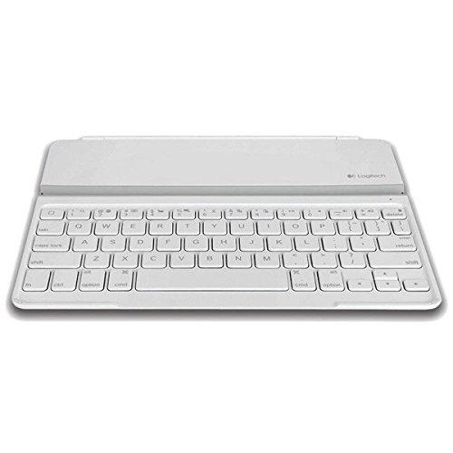 Logitech Ultrathin Keyboard Cover Tastatur für Mobilgeräte AZERTY Französisch Weiß Bluetooth - Tastaturen für Mobilgeräte (AZERTY, Französisch, Mini, Weiß, Kabellos, Bluetooth) (Logitech Type Ipad 2)