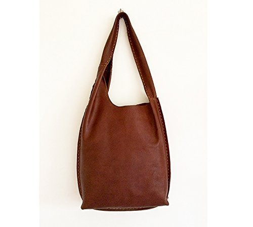 Leather cognac brown purse bag, hand-sewn, handmade handbags, made in italy, limited edition BBagdesign - handmade-bags