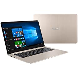 "Asus VivoBook S15 S510UN-BQ052T Notebook, Display da 15.6"", Processore I7-8550U, 1.8 GHz, HDD da 1000 GB, 8 GB di RAM, nVidia GeForce MX 150, Oro/Metallo [Layout Italiano]"