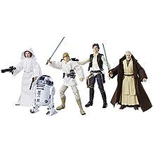 Star Wars - Figuras Black Series del 40 Aniversario de 15 cm, surtidos, 1 set de 8 piezas (Hasbro C1688EU4)