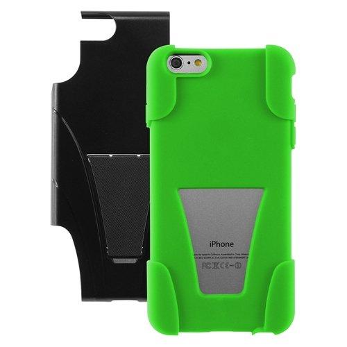 """ChannelExpert Hybrid Armor Hülle case Tasche Bumper Etui Cover Schutzhülle Schutzcover mit Stand für Apple iPhone 6 Plus 5.5"""" schwarz/Hot Pink Schwarz/Neongrün"""