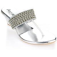 Aarz sera delle donne Diamante Wedding Party signore Slip-On cuneo