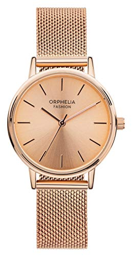 en Analog Quartz Uhr Belt mit Mesh Edelstahl Armband ()