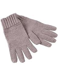 Myrtle Beach guantes de punto guantes Basic Gris granito Talla:talla única