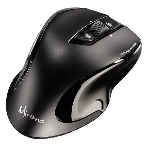 Hama Mirano Wireless Laser Maus (800/1600dpi), ohne Klickgeräusche, schwarz