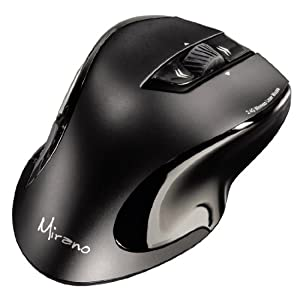 Hama Mouse Wireless Laser MIRANO a 6 tasti, con scroll, 2.4 GHz, 800/1600dpi, nano, nero