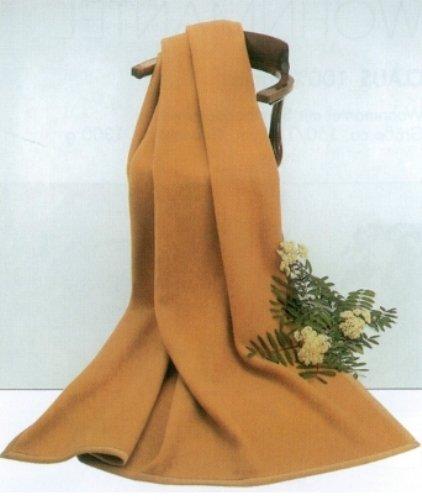 Steinbeck Decke Mekka aus 100{35fd46414a826946d5533c7c0763292fe246a8bd93a10c98e08cca396629fe5d} Kamelhaar Farbe Kamel in drei Größen, 150x220 cm Gewicht 1450 g