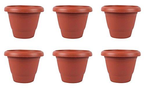 Truphe Gardening Flower Pot - Garden Planters in Terracotta Color (Pack of...