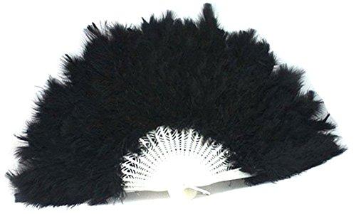 BleuMoo Flauschig Weich Lady Burlesque Hochzeit Hand Fancy Kleid Kostüm Dance Feather Fan (Burlesque Fan Dance Kostüme)