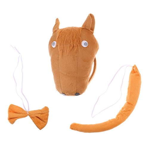 MagiDeal Pferd-Kostüm Set - Haarreif, Fliege und Schwanz, Kinder Kostüm für Fasching Karneval Party