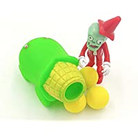 Figura de Zombie vs. Plantas. 1 Planta de maíz 1 zombi y 3 bolas