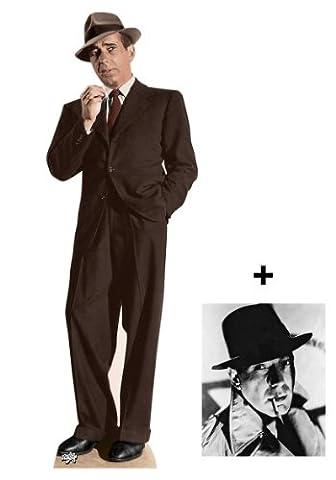 "*FANBÜNDEL* - Humphrey Bogart LEBENSGROSSE PAPPFIGUREN / STEHPLATZINHABER / AUFSTELLER - ENTHÄLT 8x10"" (25x20cm) STARFOTO - FANBÜNDEL #300"