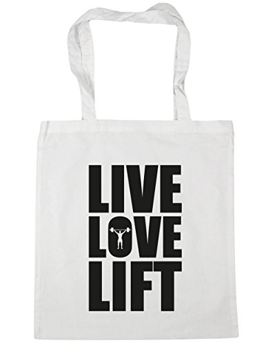 hippowarehouse-live-love-lift-tote-shopping-gym-beach-bag-42cm-x38cm-10-litres