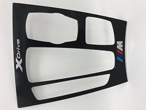 Emblem Trading Emblem Mittelkonsole Schaltknauf Rahmen Blende X5 X6 F15 F16 M ABS Kunststoff Schwarz Matt Autozubehör