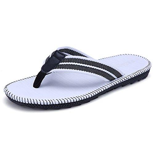 Pantofole per gli uomini di beach slippers estate trend antiscivolo sandali flip-flops ( colore : bianca , dimensioni : us:10.5\uk:9.5\eur:46 )