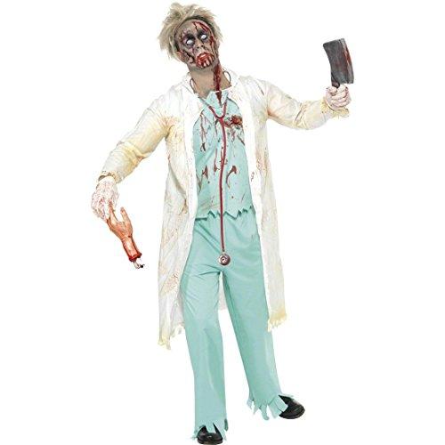 Arzt Kostüm Zombie Doktor weiß grün S 44/46 Doktorkostüm Horrorkostüm Halloweenkostüm Halloween ()