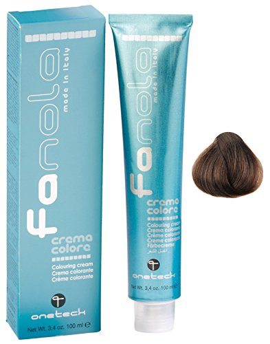 Fanola Tinte 7.14 Tabaco 100 mL - Tinte crema colorante permanente para el cabello pelo - Color uniforme y brillante - PROFESIONAL | Ash
