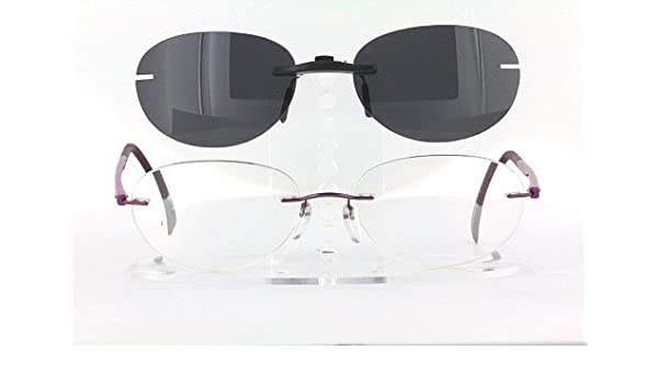 6f4c41a5726a SILHOUETTE 7642-53X17 POLARIZED CLIP-ON SUNGLASSES (Frame NOT Included)   Amazon.co.uk  Health   Personal Care