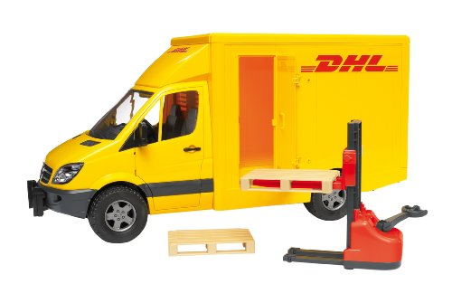bruder mb sprinter dhl mit handhubwagen preisvergleich. Black Bedroom Furniture Sets. Home Design Ideas