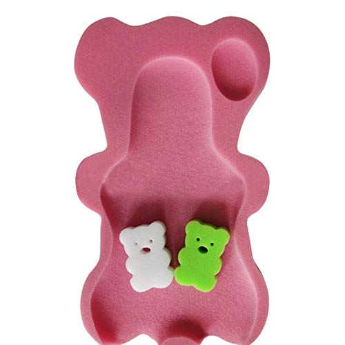 Eternitry Baby Bathtub Infant Cartoon Orso Tappetino da Bagno Neonato Spugna Leggera Antiscivolo Soft Floating Lettino Cuscino Kids Pure Confortevole Vasca da Bagno Pad