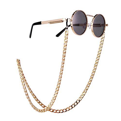 Winkey Brille Kette, Europa und den Retro Brille Kette Tragen Schmuck in Mode Literarischen Damen Perlen Hängenden Hals Brille Hip Hop Straße (Mode Blätter)