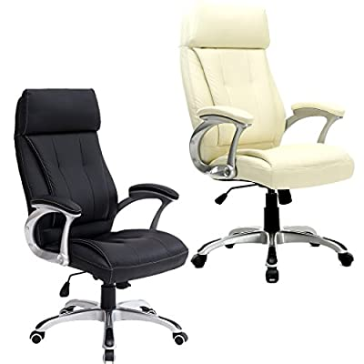 More4homes Modini High Back Executive Office Chair Leather Computer Desk Furniture - cheap UK light shop.