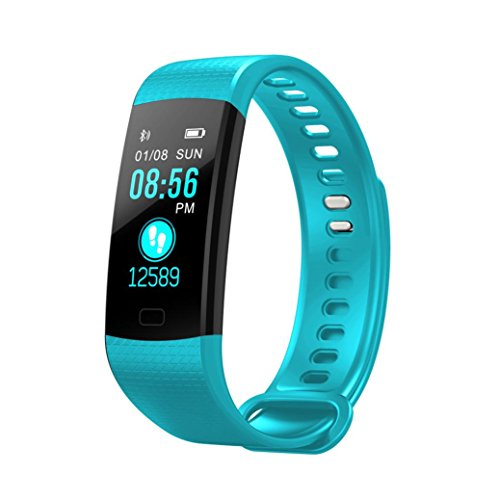 Fuibo Smartwatch, Smart Watch Sport Fitness Aktivität Herzfrequenz-Tracker Blutdruckuhr   Intelligente Armbanduhr Sport Fitness Tracker Armband (Mint Green) (Vibrations-sensor-armband)