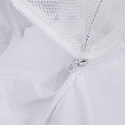 Zerodis Beekeeping Suit Beekeeping Protective Equipment Bee Keeping Full Body Cloth with Veil Hood Total Protection for Professional & Beginner Beekeepers(XL) 9