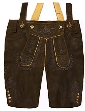 Herren Trachten Lederhose Trachtenlederhose Kurze Tracht Braun Gr.52#19