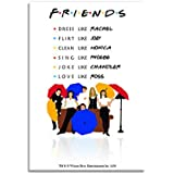 Mc Sid Razz Friends TV Series Umbrella Rectangular Fridge Magnet/Birthday Gift/Return Gift Officially Licensed by Warner Bros,USA