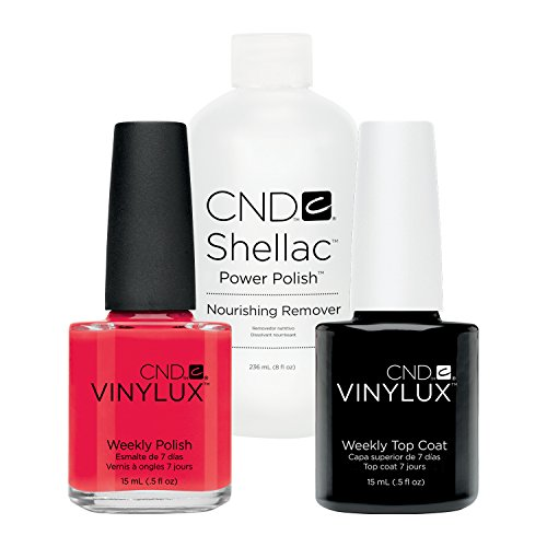 CND Vinylux Lobster Roll plus Top Coat 15 ml plus Shellac Remover 236 ml, 1er Pack (1 x 0.266 l)