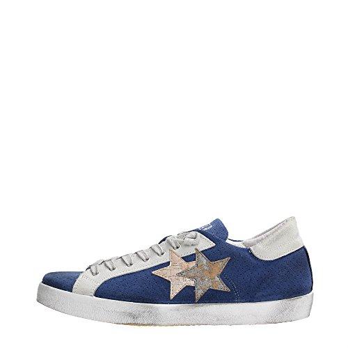 2 Star 2SU1009 Sneakers Uomo Scamosciato Blu / Ghiaccio Blu / Ghiaccio 40