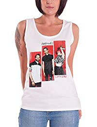 Paramore Vest Hayley band Logo Three Blocks Official Womens Skinny Fit