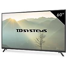 Televisores Led 60 Pulgadas Full HD TD Systems K60DLT7F. Resolución Full HD, 3x HDMI, VGA, 2x USB Reproductor y Grabador. Tv Led TDT HD DVB-T/C