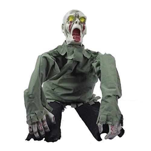 Blueqier Kostüm Maske Halloween Spielzeug Haunted House Dress Up Scary Scary Requisiten Big Crawl Geist Elektrische Hängende Geist Automatische Induktionsstange KTV Party Dress Up - Big Baby Kostüm Maske