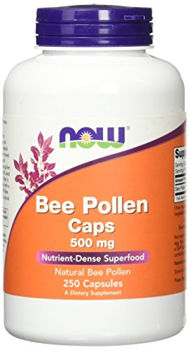 Bee Pollen Caps, 500 mg, 250 Capsules - Now Foods - Qty 1