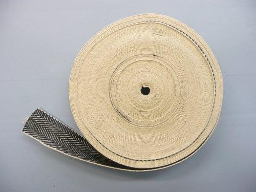 33 Meter Rolle schwarz &Gurtband Weiß, Englisch (Chair Dining Antique)