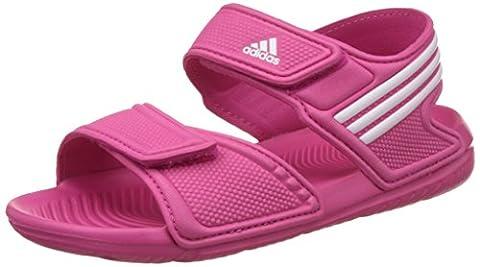 adidas Performance Unisex-Kinder Akwah 9 K Dusch-& Badeschuhe, Pink (Eqt