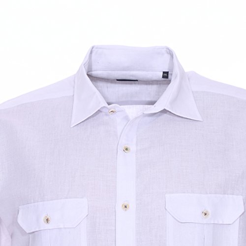 Pierre Cardin Chemise homme grande taille Blanc Blanc