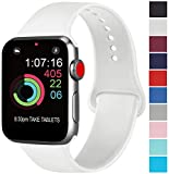 AK Compatibili Apple Watch Cinturino 42mm 38mm 44mm 40mm, Sportivo in Silicone Cinturini Compatibili iWatch Series 4, Series 3, Series 2, Series 1 (05 White, 42/44mm M/L)
