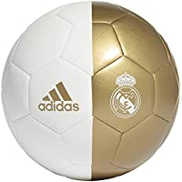 adidas RM CPT Soccer Ball, Men's, White/Dark Football Gold, 5
