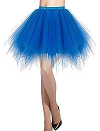 Dresstells Jupon Jupe Ballet Tutu Court en Tulle Couleurs variées