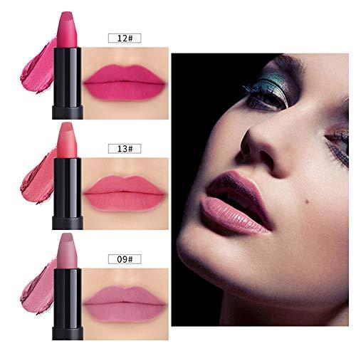 POachers 3pcs nouvelle mode imperméable à l'eau liquide mat rouge à lèvres cosmétique sexy brillant à lèvres kit