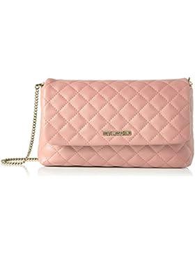 Love Moschino Borsa Nappa Pu Trap.rosa - Borse a spalla Donna, Pink, 15x28x6 cm (L x H D)
