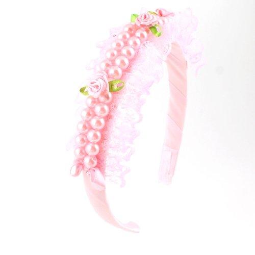 rosado-para-nina-aro-de-pelo-flores-de-nilon-con-perlas-de-imitacion-encaje-dobladillo-delgada-banda