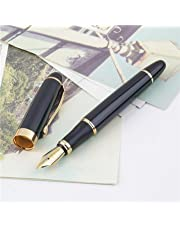 GOLD LEAF Jinhao X450 Black And Golden M Nib Fountain Pen
