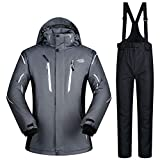 Zjsjacket Skijacke -30 Grad Winter Männer Ski Jacke und Hose Set Mann Snowboard Ski-Anzug Ski-Set Wasserdicht und Winddicht Herren Schnee Mantel-5,XL